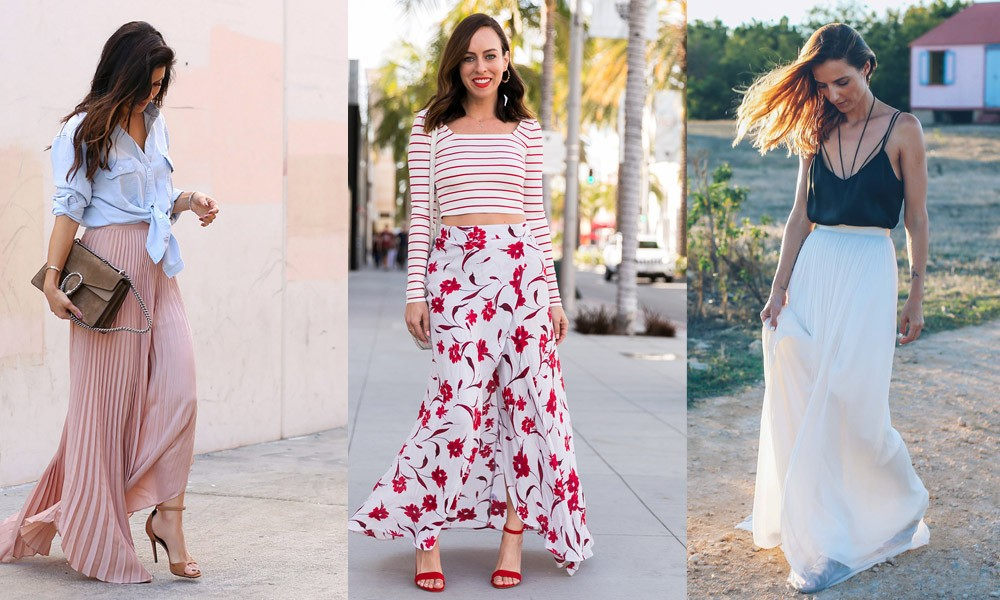 How to Wear the Long Skirt in Summer?